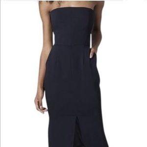 TopShop Strapless Black Pocket Dress